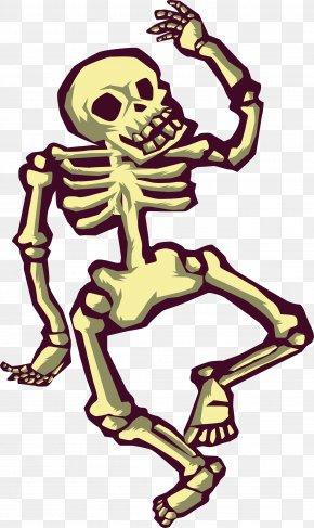 Dancing Skeleton - Skeleton Dance Illustration PNG