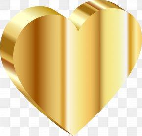 Gold - Gold Heart Clip Art PNG