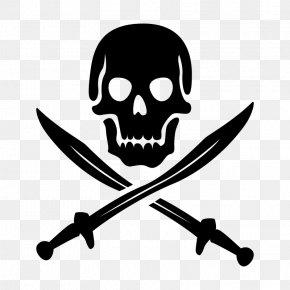 Jolly Roger Shanks - Vector Graphics Jolly Roger Skull And Crossbones Piracy PNG