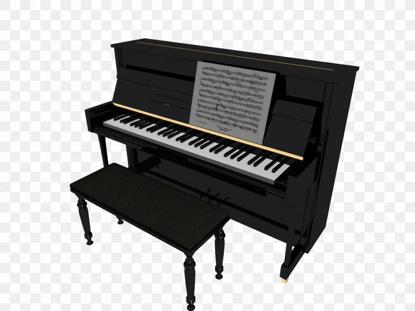 Digital Piano Electric Piano 3D Modeling 3D Computer Graphics, PNG, 1024x768px, Watercolor, Cartoon, Flower, Frame, Heart Download Free