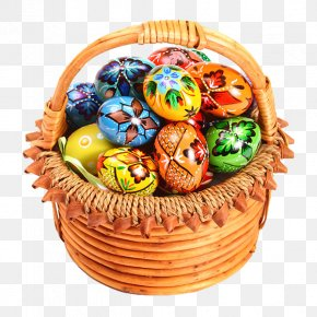 Holiday Eggs - Easter Bunny Easter Egg Egg In The Basket PNG