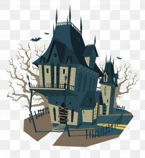 Vector Retro Houses - Euclidean Vector Halloween Illustration PNG
