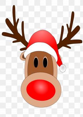 Reindeer Noses Cliparts - Rudolph Santa Claus Clip Art PNG