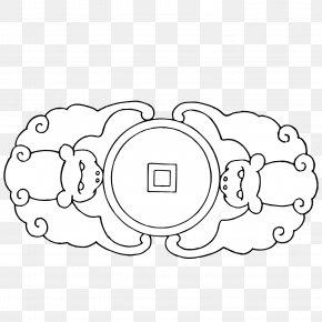 Little Monkey Ancient Coin Vector Material - Bat Motif Cash Clip Art PNG