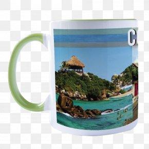 Drinkware - Coffee Cup Tayrona National Natural Park Mug PNG