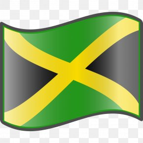Jamaican Flag Cliparts - Flag Of Jamaica Clip Art PNG