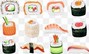 Japanese Sushi Category - Sushi Japanese Cuisine Sashimi Seafood Asian Cuisine PNG