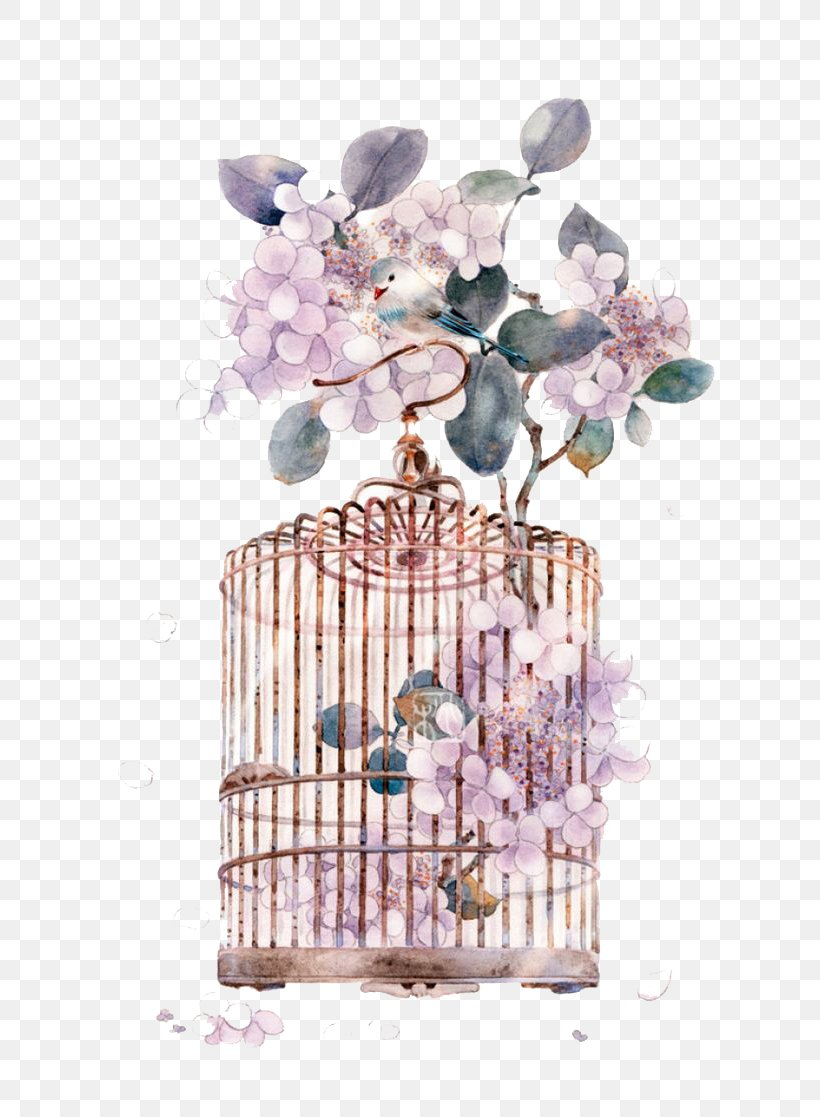 Miyou Chinese Art Watercolor Painting Asian Art, PNG, 658x1117px, Watercolor Painting, Art, Asian Art, Cage, Chinese Art Download Free