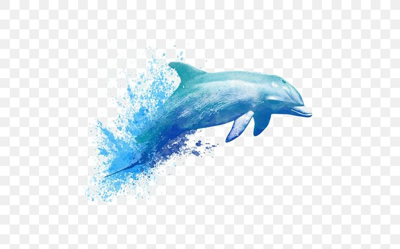 Watercolor Painting Drawing Dolphin Tattoo, PNG, 510x510px, Watercolor Painting, Abziehtattoo, Aqua, Art, Coloring Book Download Free
