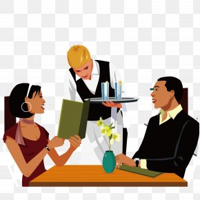 Eat The Couple - Restaurant Eating Couple Meal Illustration PNG