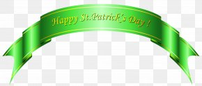 Happy St Patricks Day Green Banner PNG Clipart - Saint Patrick's Day Shamrock Clip Art PNG