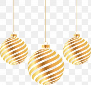 Christmas New Year Golden Ball - Christmas Gold PNG