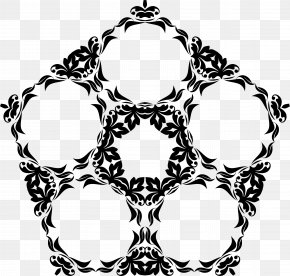 Flourish - Picture Frames Black And White Visual Arts Clip Art PNG