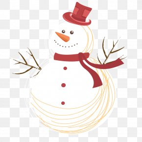 Red Hats - Snowman Christmas Day Vector Graphics Illustration PNG