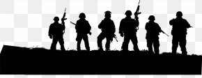 Black Army - Soldier Silhouette Army Illustration PNG