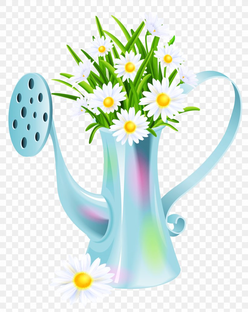 Watering Can Clip Art, PNG, 4107x5168px, Flower, Clip Art, Cup, Daisy, Drinkware Download Free