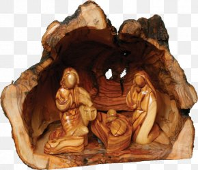 Christmas - Nativity Scene Nativity Of Jesus Christmas Holy Family Olive Wood Carving In Palestine PNG