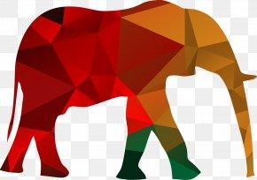 Elephant Pattern Vector Polygons - African Bush Elephant Asian Elephant Chimpanzee Respekt! Wie Sie Ansehen Bei Freund Und Feind Gewinnen T-shirt PNG