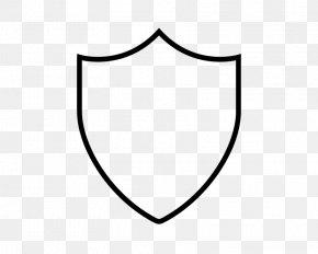 Black Shield - Black And White Line Art Monochrome Circle PNG