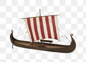 Hand-painted Sailboat - Viking Ships Viking Ship Museum Oseberg Ship Viking Age PNG