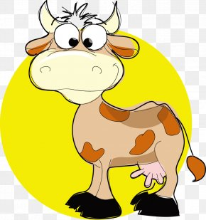 Cow Vector - Cattle Drawing Clip Art PNG