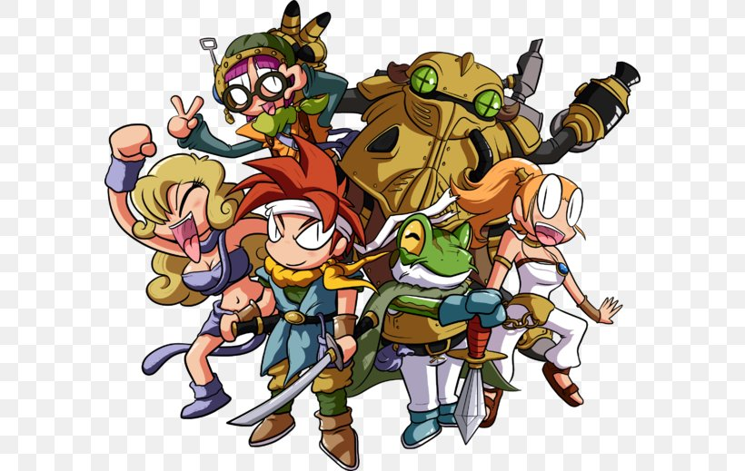 Chrono Trigger Final Fantasy VII T-shirt Video Game Art, PNG, 590x519px, Chrono Trigger, Art, Cartoon, Chrono, Clothing Download Free