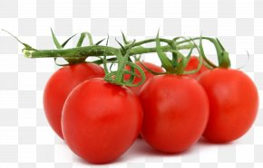 Tomato With Leaves - Organic Food Fruit Vegetable Tomato PNG