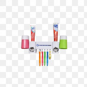 Multi Miki Creative Toothbrush Holder Suit - Mouthwash Toothbrush Toothpaste PNG