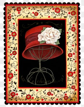 Red Hat - Hat Red Petal Sombrero Text PNG