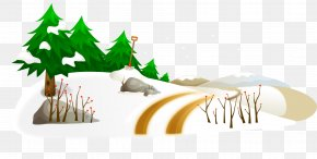 Cartoon Hand Painted Vector Winter Snow Tree Shovel - Snow Winter PNG