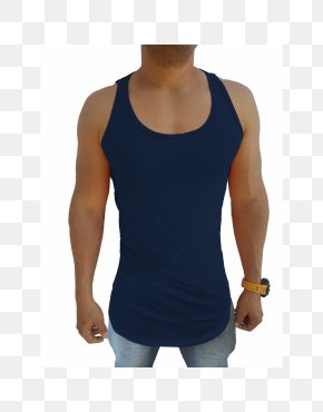 T-shirt - T-shirt Sleeveless Shirt Blue Blouse PNG