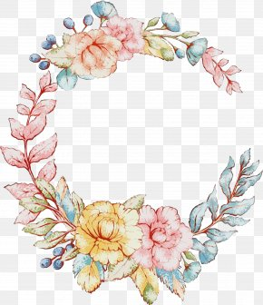 Wreath Hair Accessory - Floral Spring Flowers PNG