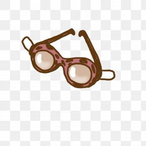 Cartoon Hand-painted Swimming Glasses - Glasses Goggles Swimming Cartoon PNG