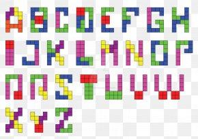 Tetris Alphabet Letter Computer Software Font PNG