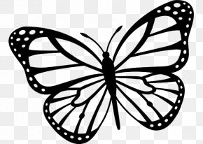 Butterfly - Butterfly Clip Art Black And White Drawing Image PNG