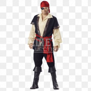 Pirate Costume - Pirate Halloween Costume Man Buccaneer PNG