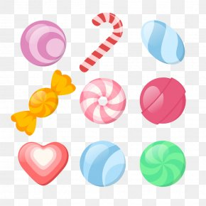 Cartoon Candy - Cotton Candy Candy Cane Lollipop Candy Apple PNG