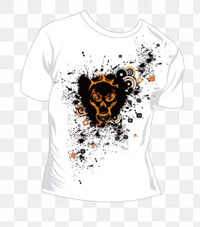 Vector White T-shirt - Printed T-shirt Clothing Sleeve PNG