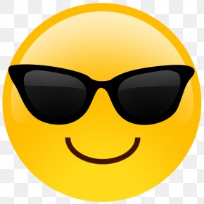 Emoji - Emoji Smiley Smirk Sunglasses PNG