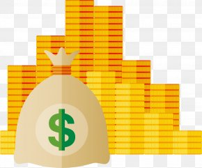 Big Pile Of Gold Coin Vector - Gold Coin Currency Converter PNG
