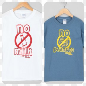 T-shirt - T-shirt Milk Food Allergy Sleeve PNG