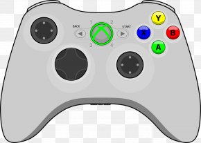 Xbox Controller Transparent Background - Xbox 360 Controller Game Controller Xbox 360 Wireless Headset Clip Art PNG