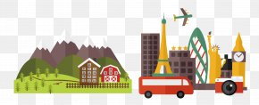 Vector City Car - Travel Vacation Poster Illustration PNG