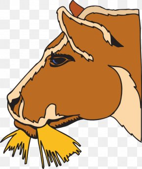 Cow Eating Cliparts - Cattle Horse Hay Clip Art PNG