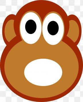 Monkey - Snout Nose Cartoon Area Clip Art PNG