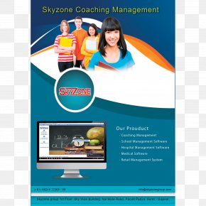 School Management Software Brochure Graphic Design Computer Software The New SchoolAccounting Flyers - SkyZone Group PNG