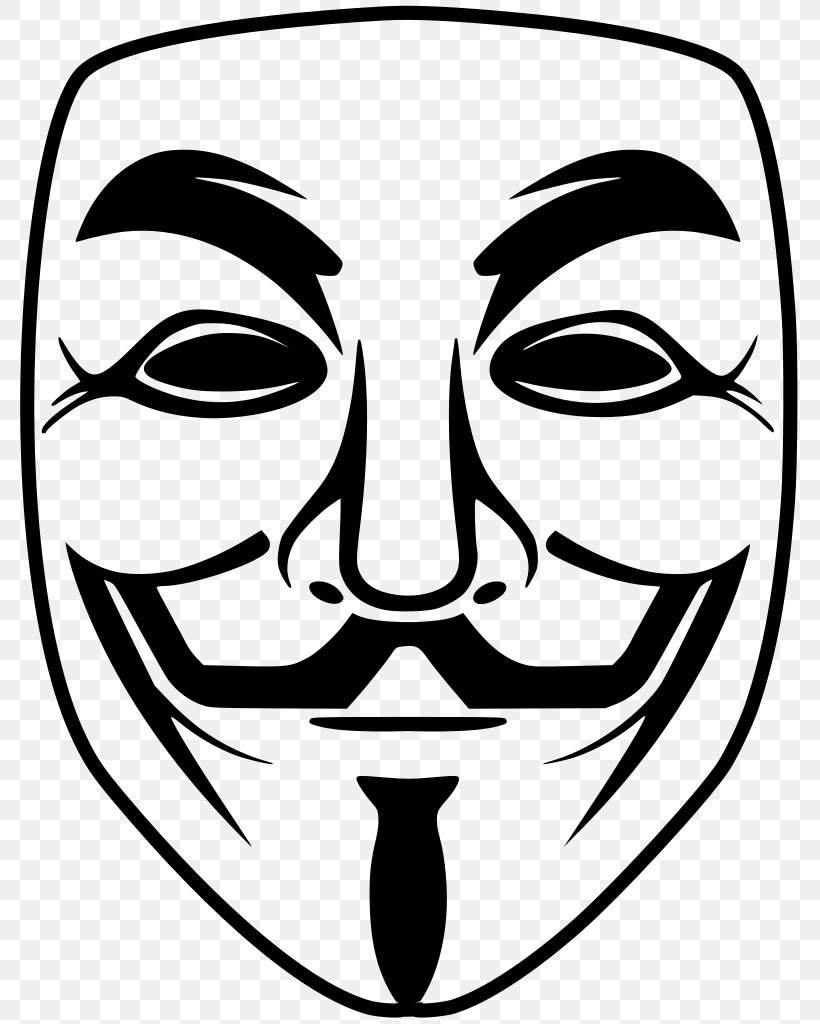 T-shirt Guy Fawkes Mask Anonymous V For Vendetta, PNG, 791x1024px, Tshirt, Anonymous, Art, Artwork, Black And White Download Free
