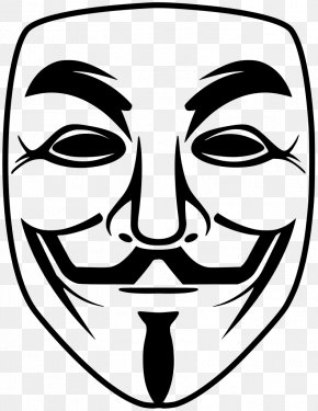Anonymous Mask - T-shirt Guy Fawkes Mask Anonymous V For Vendetta PNG