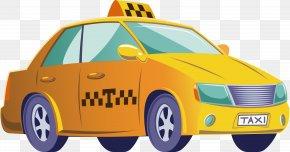 Yellow Taxi - Taxi Car Yellow Cab PNG