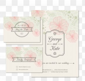 Floral Wedding Invitation Card Vector - Wedding Invitation Save The Date PNG